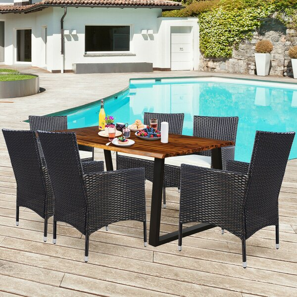 Serpa 7 Piece Dining Set with Cushion by Foundry Select