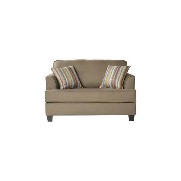 Discover Luxurious Perlman Sleeper Loveseat by Ebern Designs by Ebern Designs