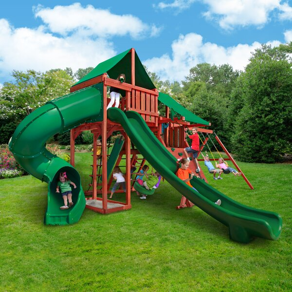 Sun Valley Deluxe Swing Set by Gorilla Playsets