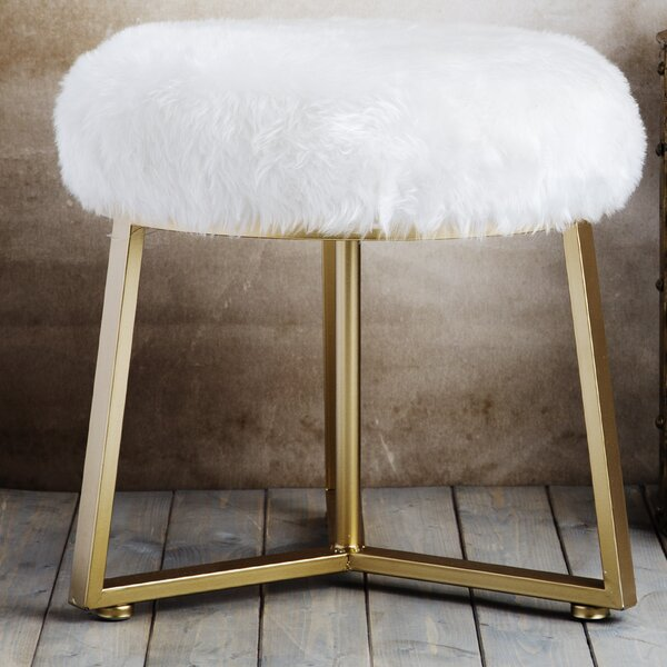 Round Vanity Stool by Home Essentials and Beyond