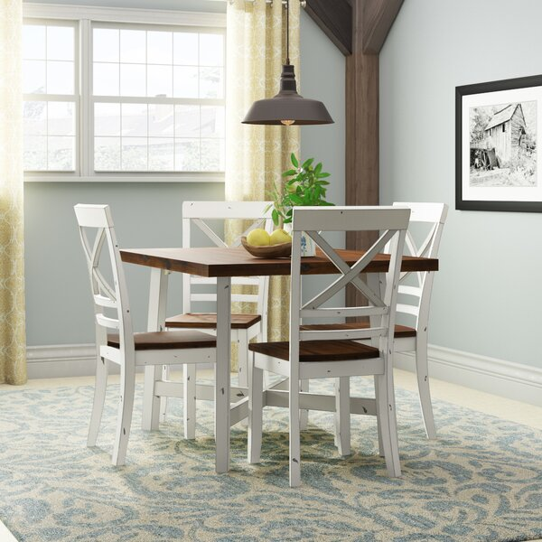 Dunnes 5 Piece Solid Wood Dining Set by August Grove August Grove