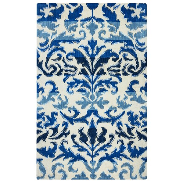Hand-Tufted Blue/White Area Rug by The Conestoga Trading Co.