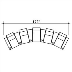 Olympia Leather Home Theater Row Seating (Row Of 5) By Bass