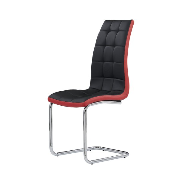 Cena Black/Red Side Chair by Orren Ellis