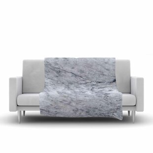 Where buy  Marble Fleece Blanket ByEast Urban Home