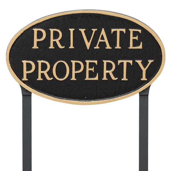 Oval Private Property Statement Garden Sign by Montague Metal Products Inc.