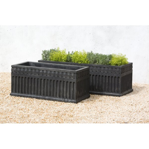 Janina Cast Stone Window Box Planter by Darby Home Co