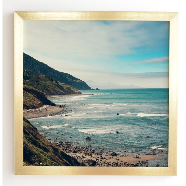 California Pacific Coast Highway Framed Photographic Print by East Urban Home