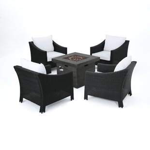 Hoopes 5 Piece Conversation Set with Cushions By Alcott Hill