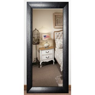 Darby Home Co South Lamar Stitched Leather Beveled Wall Mirror