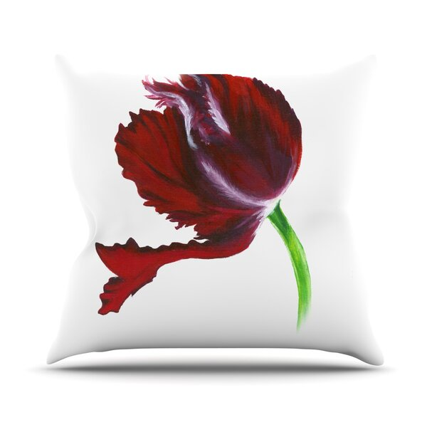 Tulip by Lydia Martin Outdoor Throw Pillow by East Urban Home