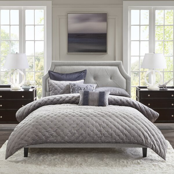 Dower Upholstered Standard Bed by Madison Park Signature