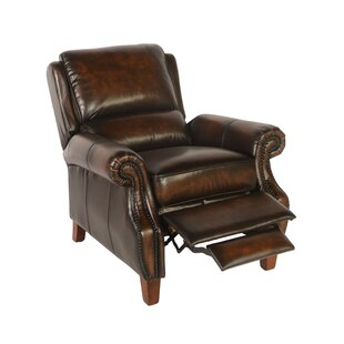 Minor Leather Manual Recliner Canora Grey