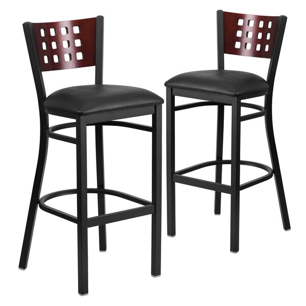 Alvera 32 Swivel Bar Stool (Set of 2) by Ebern Designs