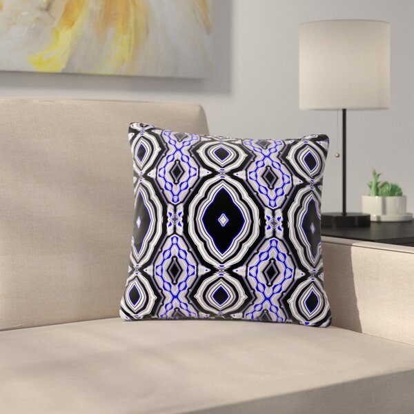 Dawid Roc Inspired by Psychedelic Art Abstract Outdoor Throw Pillow by East Urban Home