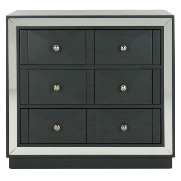 Glacaeu 3 Drawer Mirrored Accent Chest By Everly Quinn