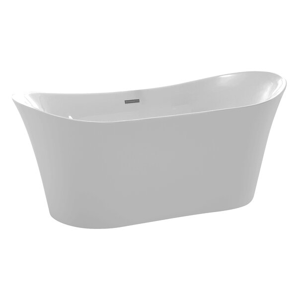 Eft Series 67'' x 29.5'' Freestanding Soaking Bathtub by ANZZI