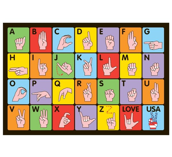 Fun Time Sign Language Kids Rug by Fun Rugs