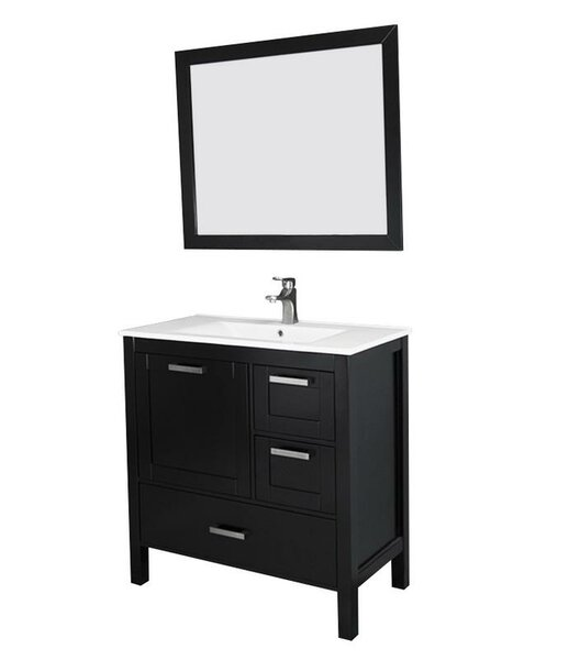 Andre 36 Single Bathroom Vanity Set with Mirror by Longshore TidesAndre 36 Single Bathroom Vanity Set with Mirror by Longshore Tides