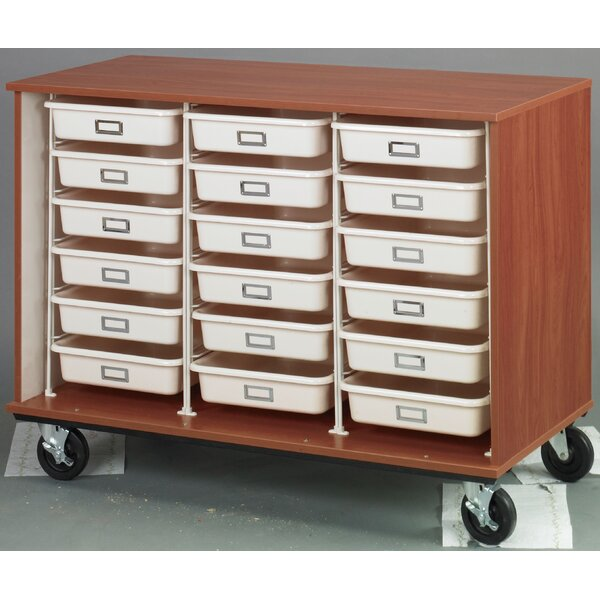 Folding 18 Compartment Cubby with Casters by Stevens ID Systems