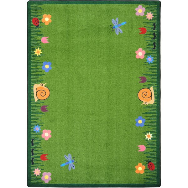 Hand-Tufled Green Kids Area Rug by The Conestoga Trading Co.
