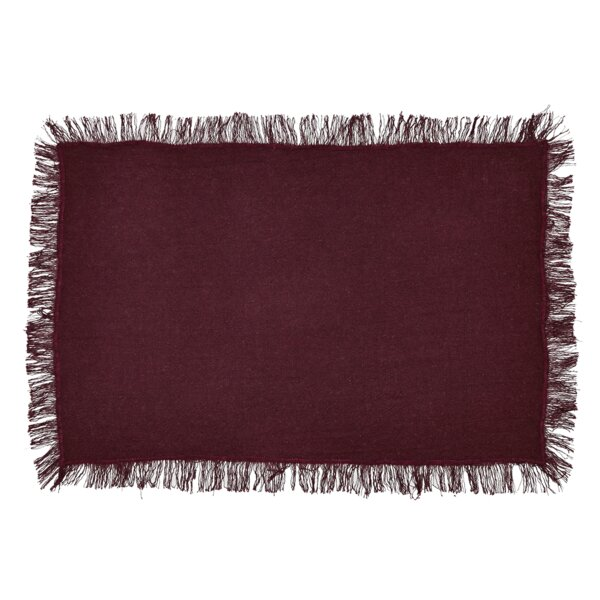 Mathieu Fringed Placemat (Set of 6) by August Grove