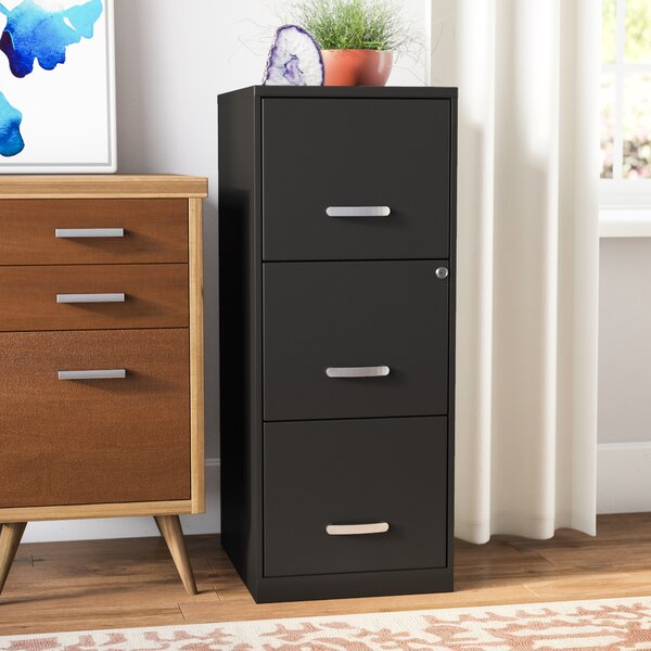 Botkins 3 Drawer Filing Cabinet by Rebrilliant
