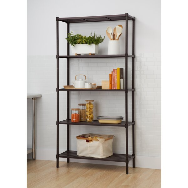 Slat 72 Five Shelf Shelving Unit by Trinity