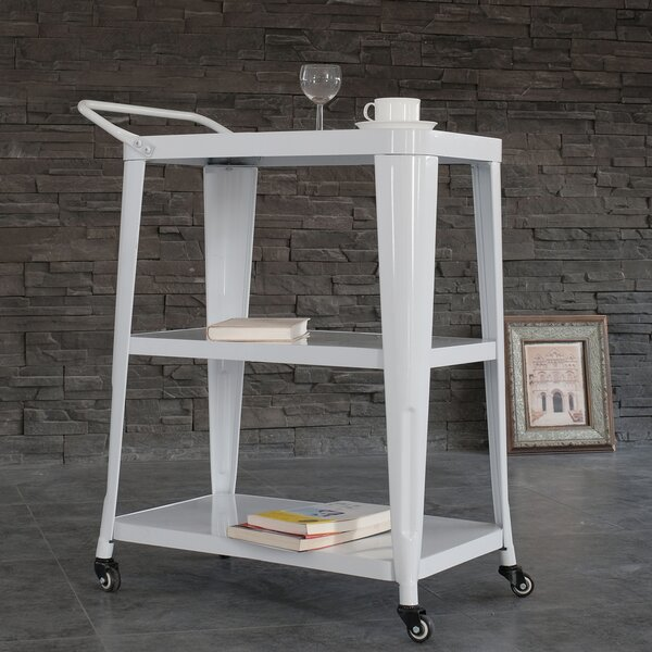 Pham 3-Tiered Metal Frame Bar Cart By Williston Forge