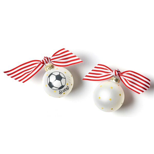 Soccer Glass Ball Ornament by Coton Colors