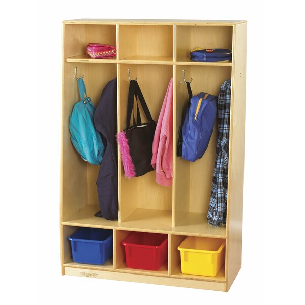 3 Section Coat Locker by Childcraft
