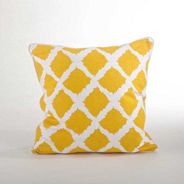 Corsica Ikat Cotton Throw Pillow by Saro