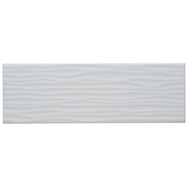 Berkeley 4 x 12 Ceramic Subway Tile in Arctic White by Itona Tile