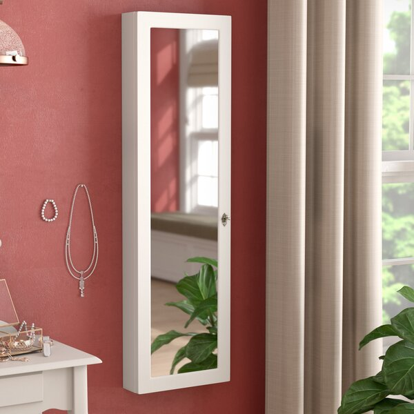 Ridenour Over the Door or Wall Mount Jewelry Armoire with Mirror by Red Barrel Studio