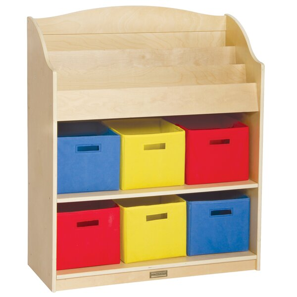 Classroom Furniture 9 Compartment Book Display with Bins by Guidecraft