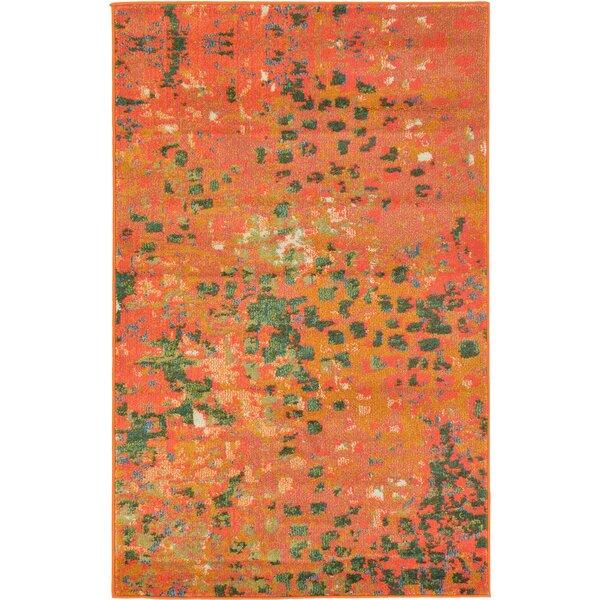 Nyla Orange Area Rug by Mistana