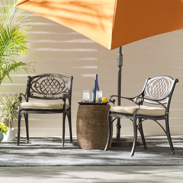 Devon Patio Dining Chair with Cushion (Set of 2) by Darby Home Co