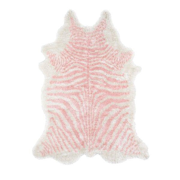 Khalhari Hand-Tufted Faux Fur Pink Area Rug by Novogratz By Momeni