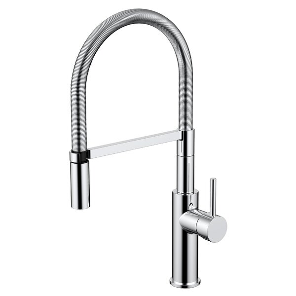 Daweier Pull Out Single Handle Kitchen Faucet by Daweier