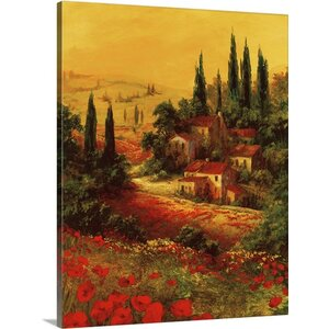 Toscano Valley I by Art Fronckowiak Painting Print on Wrapped Canvas by Great Big Canvas