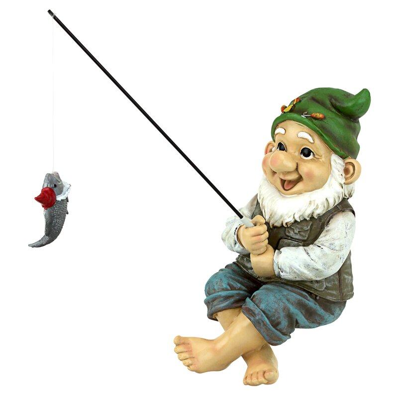 Design Toscano Ziggy The Fishing Gnome Garden Sitter