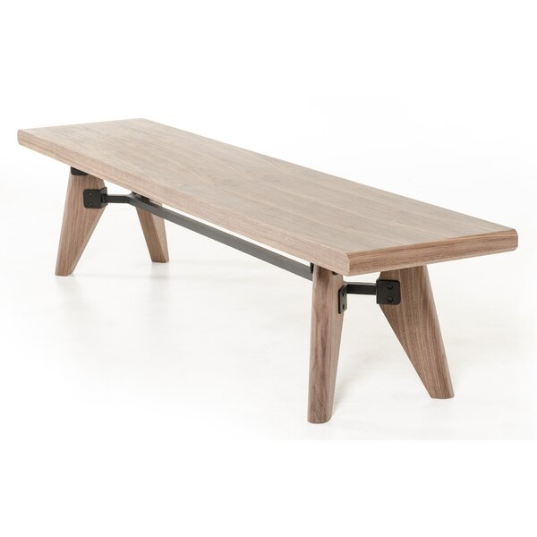 Lipscomb Wood Bench By Brayden Studio Best