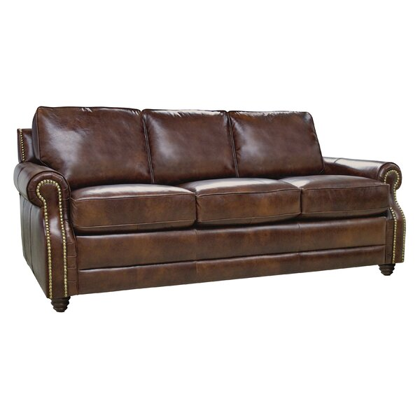 Halligan Leather Sofa by Alcott Hill