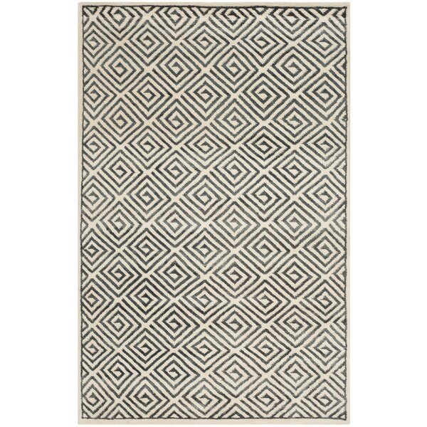 Mosaic Ivory / Grey Geometric Rug by Safavieh