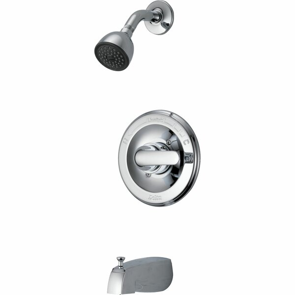 Classic Thermostatic Tub and Shower Faucet with Rough-in Valve Trim and Monitor by Delta Delta