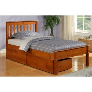 Stag's Leap Twin Slat Bed with Storage by Harriet Bee
