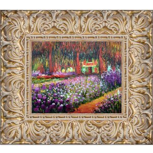 'Artist's Garden at Giverny' by Claude Monet Framed Painting by Fleur De Lis Living