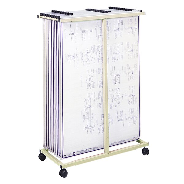 Mobile Vertical Hanging Filing Cart by Safco Products Company