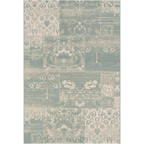 Argent Sea Mist Indoor/Outdoor Area Rug by Lark Manor