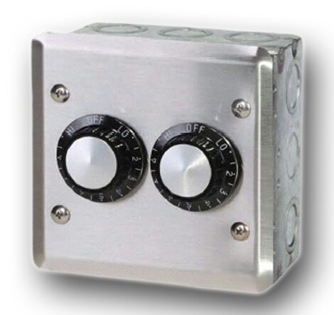 INF Double In-Wall Control Thermostat By Infratech